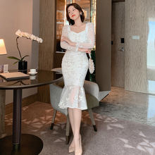 Женские платья с цветочной вышивкой 2020 белое кружевное платье