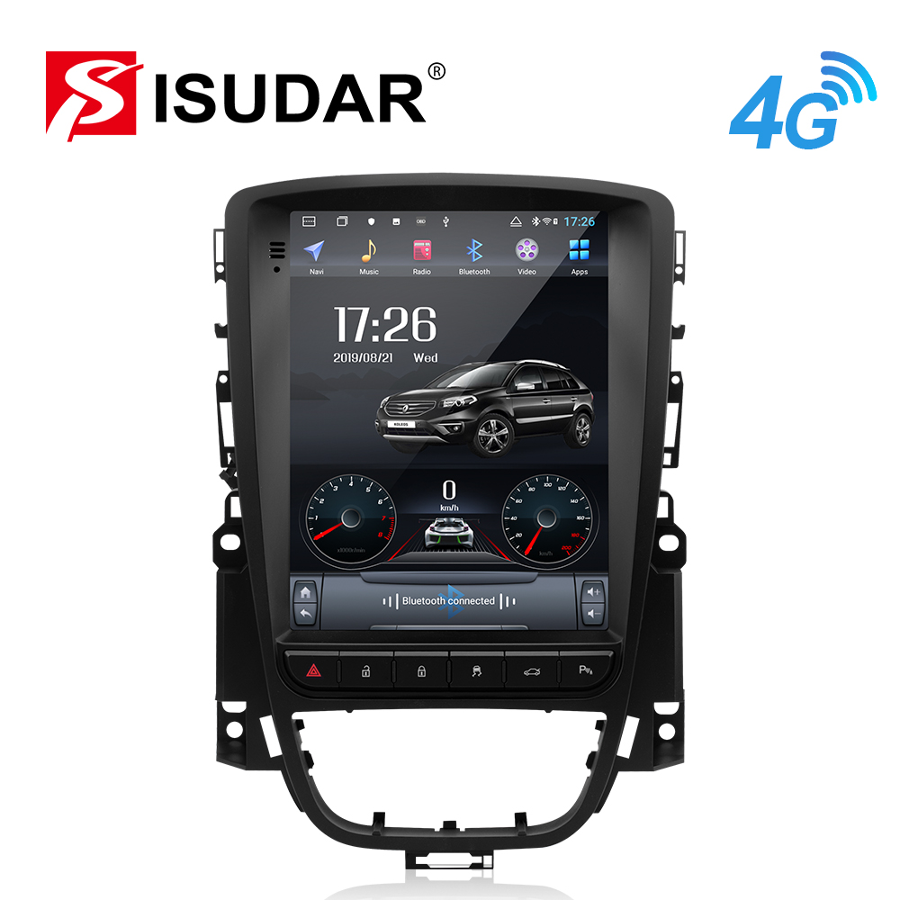 Isudar H53 Vertical 1 Din Android Auto Radio For Opel/Vauxhall/Astra J Buick/Verano 2009-2014 GPS Car Multimedia RAM 4G ROM 64GB image