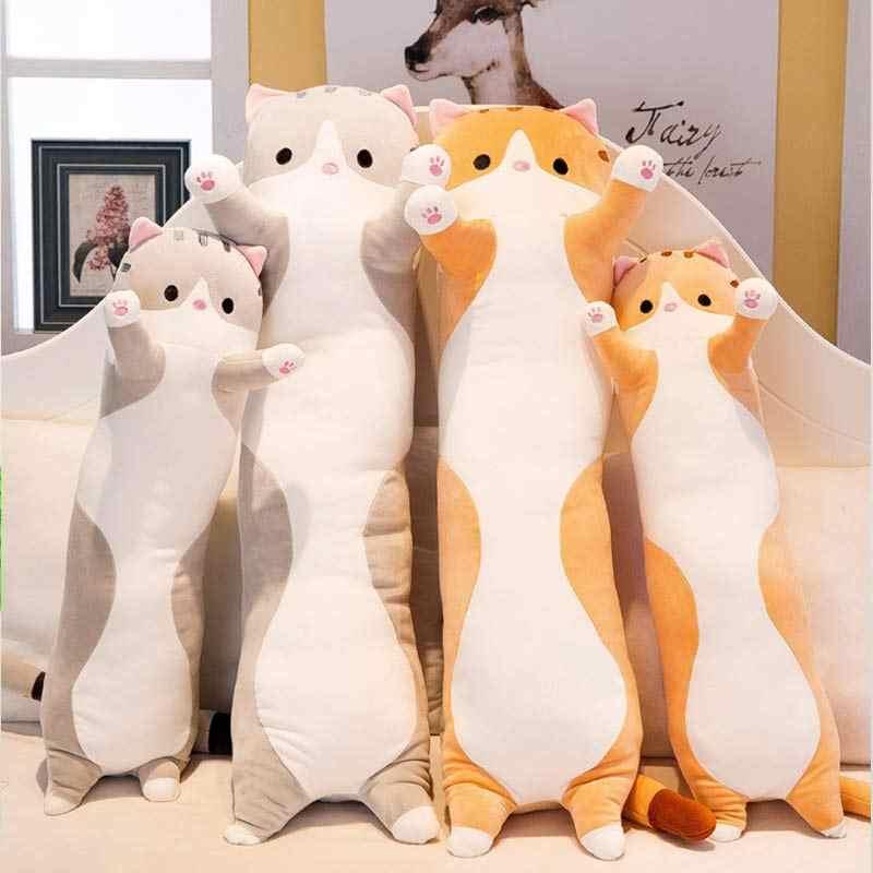 베개 플러시 장난감 베개 가정 용품 90 cm 귀여운 고양이 수면 플러시 어린이 무릎 베개 사촌 시계 개척자 좌석 쿠션을 보내