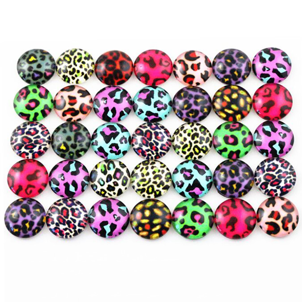 Hot Sale 50pcs 12mm  Mixed Handmade Photo Glass Cabochons  (G2-41)
