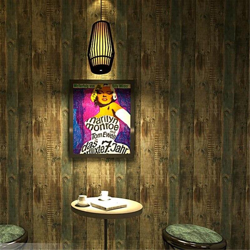Wellyu rétro vintage papier peint imitation bois grain bois conseil mode vêtements magasin décoration restaurant café papier peint