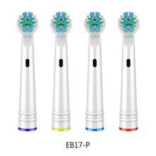4pcs Toothbrush Brush Heads For Oral B D25, D18, D12, D8, D4X, D4, D17, D4510, D12013, D12013W, D12523, D8011, D9525, D9511 недорого