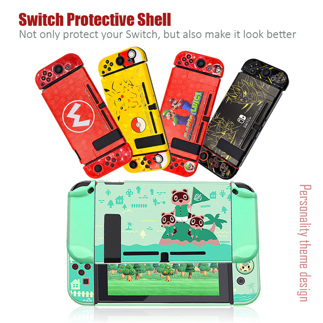 For Nintendo Switch Cute Case Nintend Switch PC Case Protective Housing Thin Shell Skin Colorful NS Switch Accessories