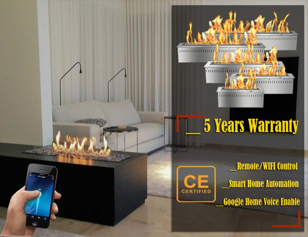 Hot Sale 24 Inches Bio Chimney Remote Ethanol Fuel Fireplace