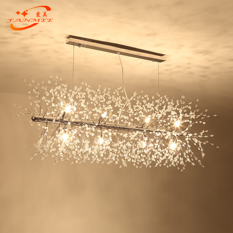 Hcdfbab69190b48868af4624fd7ee03034 Modern LED Crystal Chandelier Light Pendant Hanging Lamp Dandelion Cristal Chandelier Lighting for Living Dining Room Decoration
