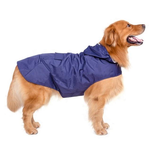 Pet's Hoodies Raincoat with Reflective Stripes Pet Outdoor Rain Jacket Poncho For Medium / Large Dog 2