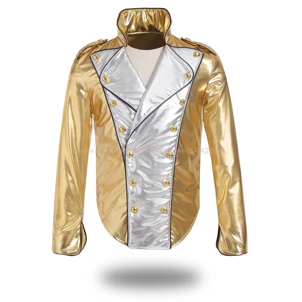 MJ Michael Jackson Coat History Golden Jacket Costume for Cosplay Imitation Prop MTV Collection