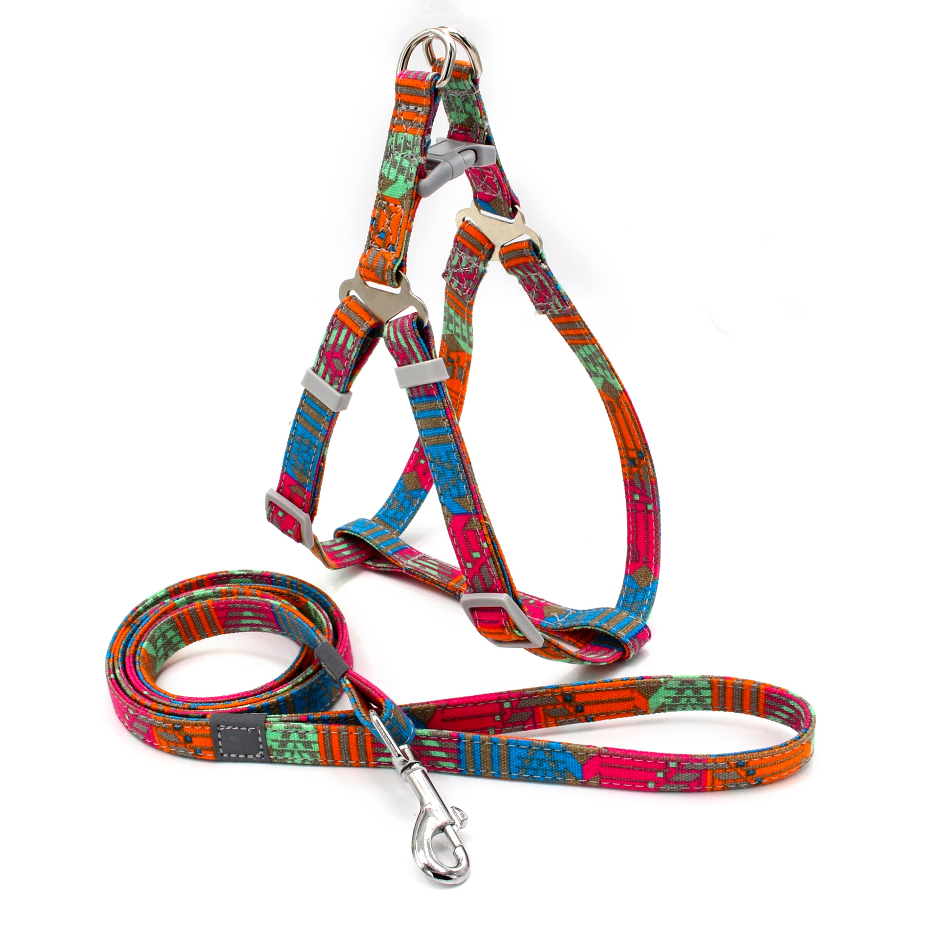 New Style Proof Punch Printed Pet Traction Rope Reflective Dog Chest Strap Set Cat Rope Pet Supplies