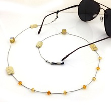 Vazrobe Sunglasses Chain Fashion Metal 2 Pcs/lot Glasses Handmade Eyewear Anti Skip Strap Accessories for Sunglass