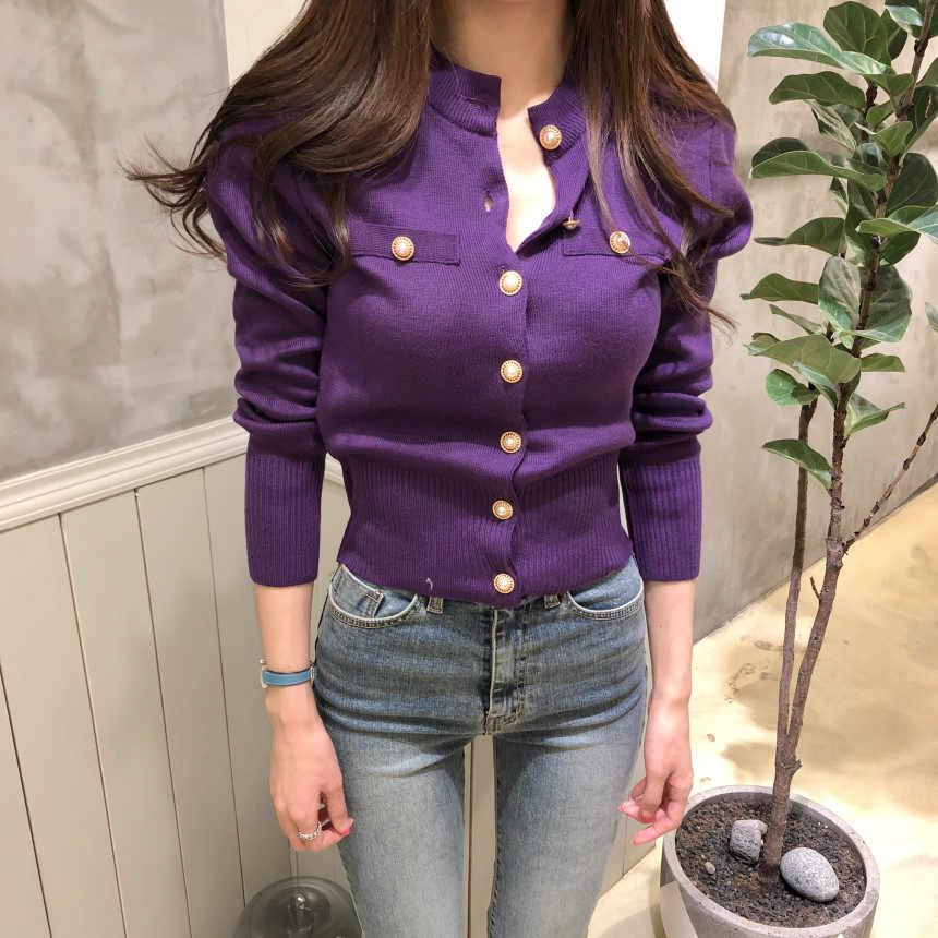 Fa2264 2019 새로운 가을 겨울 여성 패션 캐주얼 따뜻한 좋은 스웨터 한국어 스웨터 카디 건