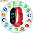 M3 montre intelligente étanche bracelet fréquence cardiaque moniteur de pression artérielle Bluetooth Smarwatch pour xiaomi 3 bande Android IOS téléphone