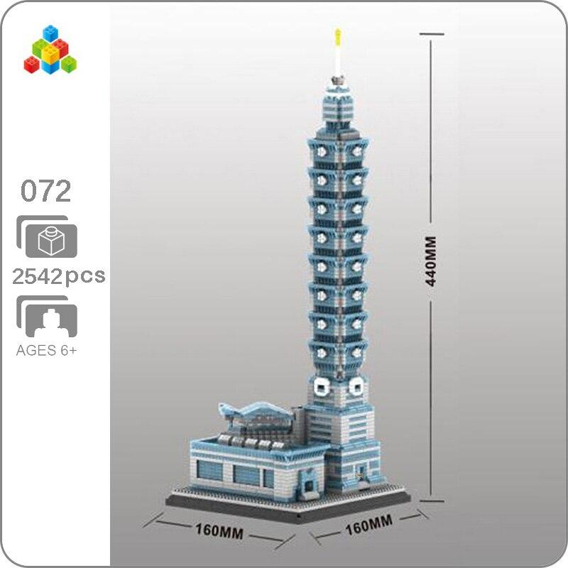 YZ 072 World Architecture Taipei 101 Building Financial Center 3D Model DIY Mini Building Diamond Blocks Toy for Children no Box(China)