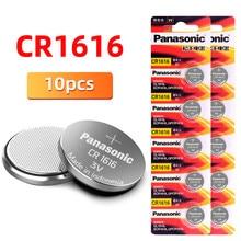 Panasonic Novo 10PCS Cr1616 3 V Baterias Botão Célula Tipo Moeda BR1616 ECR1616 Para Controle Remoto de Controle Remoto Elétrico Automático