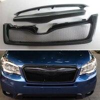 Body Kit Voorbumper Cover Inbouwen Grill Accessoires Carbon Fiber Racing Grills Gebruik Voor Subaru Forester 2013 2014 Jaar