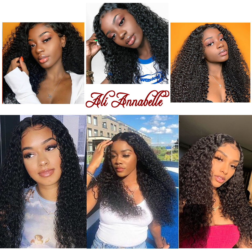 Image 5 - Lace Front Human Hair Wigs With Baby Hair Brazilian Curly Human Hair Wig 13*6 Human Hair Wigs ALI ANNABELLE HAIR Kinky Curly Wig-in Human Hair Lace Wigs from Hair Extensions & Wigs