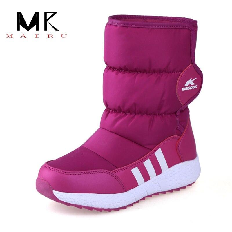 Petits enfants chaussures Mini enfant bottes de neige imperméable anti-dérapant semelle laine naturelle hiver chaud nouveau style bottes courtes livraison gratuite
