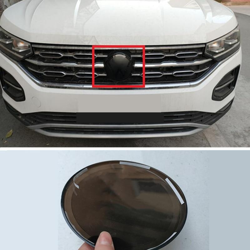 1x cabeça abs guerreiro preto grade espelho cobre emblema capa dianteira logotipo do diabo emblema para vw volkswagen 2018 golf 2020 golf 7.5 mk7.5 gti