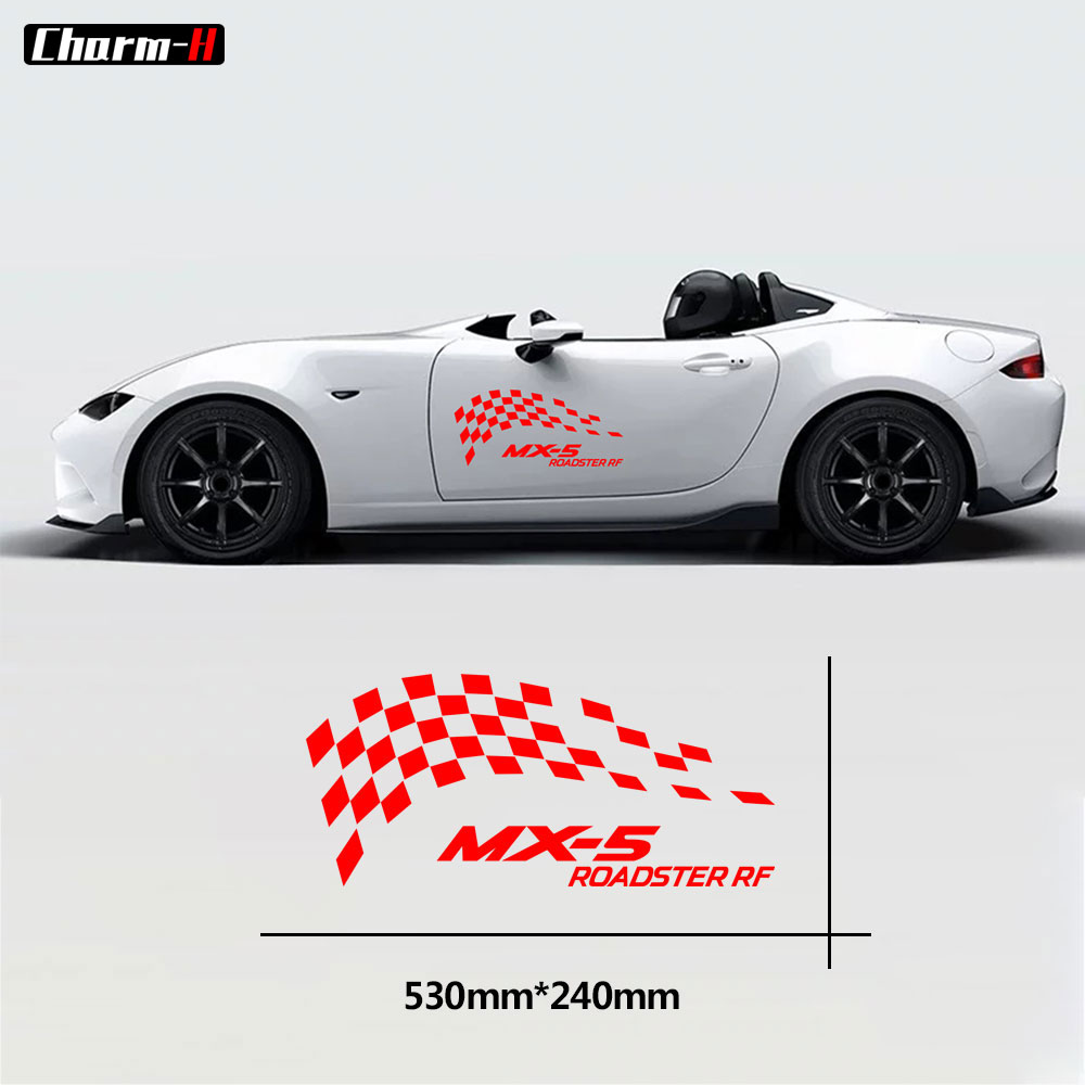 Car Styling Door Side Body Decoration Stripes Decals for Mazda MX-5 Roadster RF Graphic Stickers Accessories