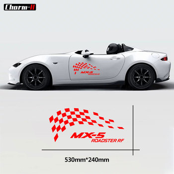 Car Styling Door Side Body Decoration Stripes Decals for Mazda MX-5 Roadster RF Graphic Stickers Accessories - discount item  56% OFF Exterior Accessories