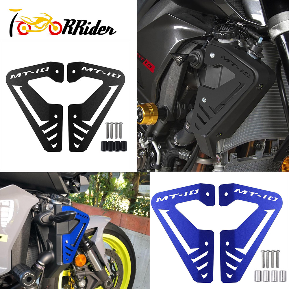 <font><b>MT</b></font> <font><b>10</b></font> FZ <font><b>10</b></font> New Radiator Side Protector Cover Plates Guard Black Blue for 2015-2020 <font><b>YAMAHA</b></font> MT10 FZ10 <font><b>MT</b></font> <font><b>10</b></font> FZ <font><b>10</b></font> Accessories 19 image