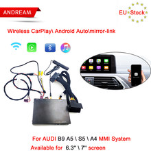 Andream Wireless Android Auto Carplay Interface Box For AUDI B9 A5/S5/A4 MMI System Support Mirror-link Siri Voice Control(China)