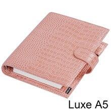 Moterm luxe a5 anéis planejador com 30 mm anéis binder agenda disquete versão croc grain organizer diário bloco de notas sketchbook