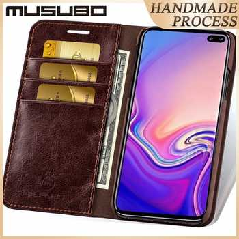 Musubo Business Luxury Case For Samsung Galaxy S20 S10 S10+ S10e Genuine Leather Flip Cases Cover for S9 Plus Funda Coque Capa - DISCOUNT ITEM  23 OFF Cellphones & Telecommunications