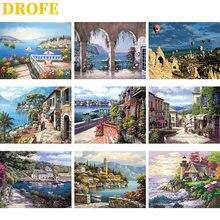 Drofe diy краски по номерам холст ing наборы 40x50 см пейзаж