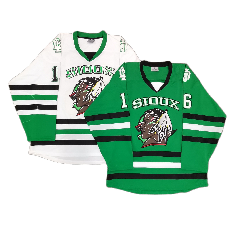 North Dakota Fighting Sioux Embroidery Stitched hockey jersey street shirt Brock BOESER #16 NCAA
