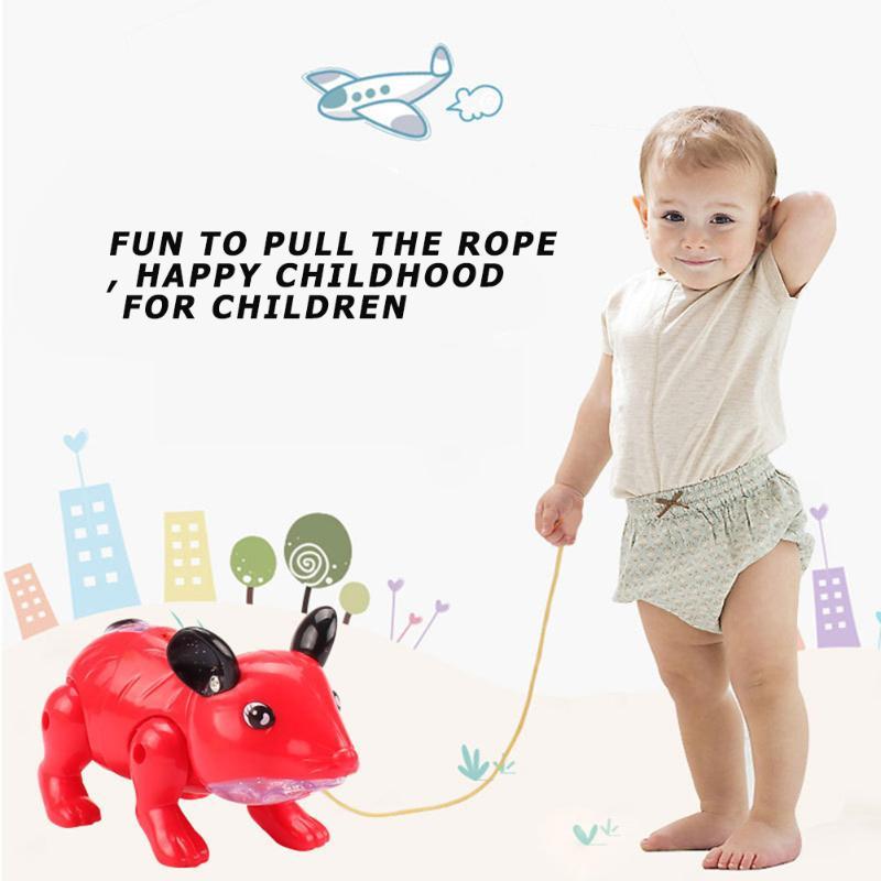 Electronic LED Light Music Walking Mouse Toys Early Education Intelligence Development Kids Educational Toys Random Color