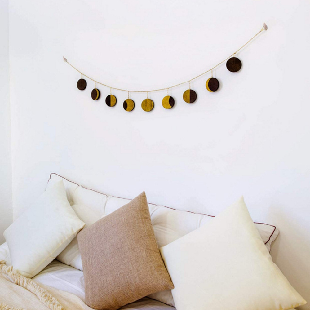Moon Shining Phase Garland Decoration Chains Boho Gold Wall Hanging Ornaments Convenient Home Daily Necessities