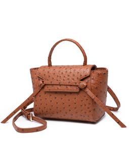 Image 2 - HIGHREALใหม่ที่กำหนดเองหรูหราออกแบบแบรนด์ผู้หญิงนกกระจอกเทศหนังกระเป๋าถือคลัทช์กระเป๋าสะพายกระเป๋า