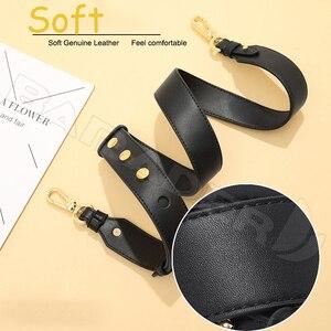 Image 3 - BAMADER Genuine Leather Bag Strap High Quality Rivet Wide Shoulder Strap Fashion Adjustable 90cm 110cm Women Bag Accessories New