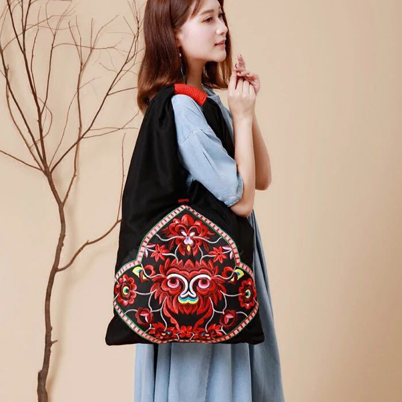 Image 3 - New Vintage Embroidery Bohemian Shoulder Bag Bags Women Boho Hippie Gypsy Womens Handbags Bag Bags free shippingShoulder Bags   -