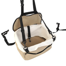 Portable Pet Soft Car Booster Seat Soft Safety Dog Cat Puppy Carrier Cage Travel Tote Bag Basket(China)