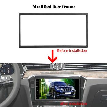 Car Stereo Radio Frame Universal 2 Din Frame Car Stereo Radio Fascia Panel DVD Player Trim Kit image