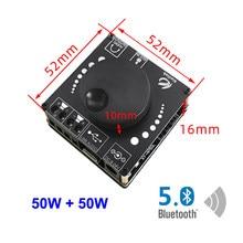 2*50W Bluetooth 5.0 haut-parleur classe D amplificateur de puissance Audio 30W ~ 200W HiFi stéréo Mini USB musique carte son App amplificateur numérique