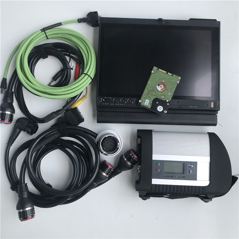 MB Star C4 Sd мультиплексор c4 с X200T 320GB HDD,12 V X/Vediam/DAS/DTS/EPCFor автоматический диагностический инструмент new star c4