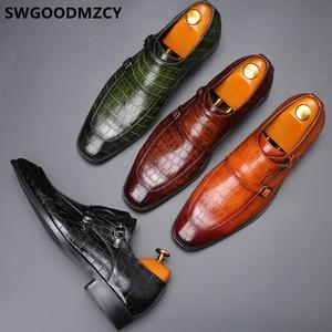 Image 4 - คู่ Monk รองเท้าธุรกิจรองเท้า Oxford รองเท้าสำหรับผู้ชาย Zapatos De Hombre Italiano Chaussure Homme Mariage Chaussure Homme