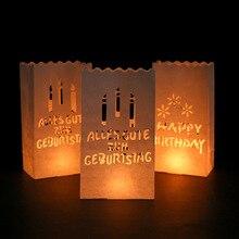 5pcs birthday candle bag 15x9x26CM Halloween paper bag Christmas holiday