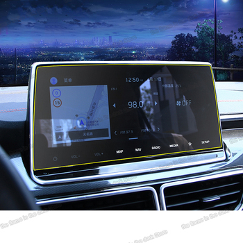 Lsrtw2017 car navigation gps lcd screen tempered film for kia sportage ql 2015 2016 2017 2018 2019 2020 accessories gt line image