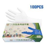 Einweg nitril handschuhe 100 lebensmittel schutz handschuhe weiß-in Schutzhandschuhe aus Sicherheit und Schutz bei