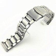 Нержавеющая сталь сталь ремешок быстросъемный выпуск браслет ремешок двойной кнопка кнопка складывание часы пряжка +развертывание застежка часы ремешок WB143