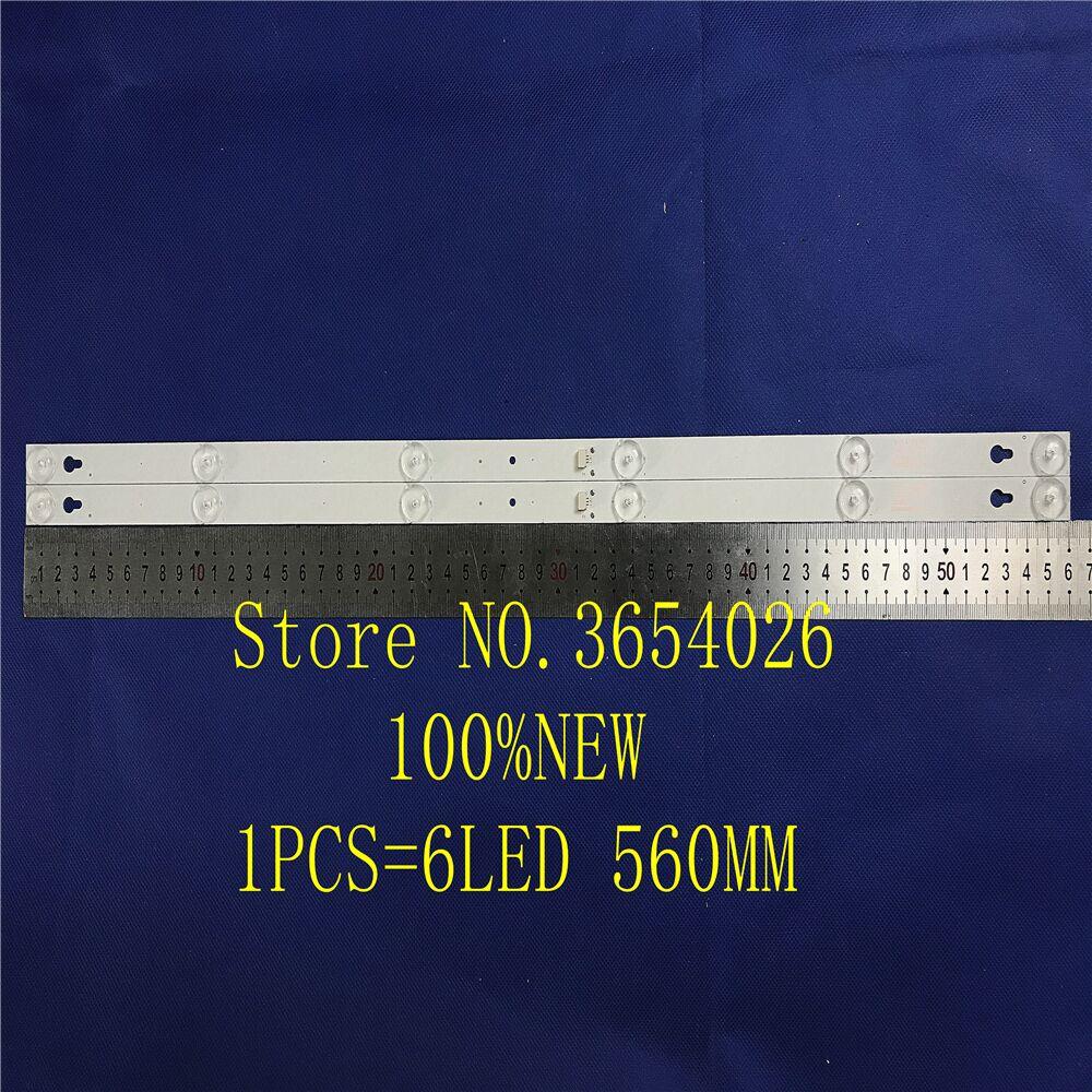 2Pieces/lot 6LED(6V) 560mm LED Backlight Strip For L32P1A 4C-LB3206-HR03J HR01J 32D2900 32HR330M06A5 V5 100%NEW