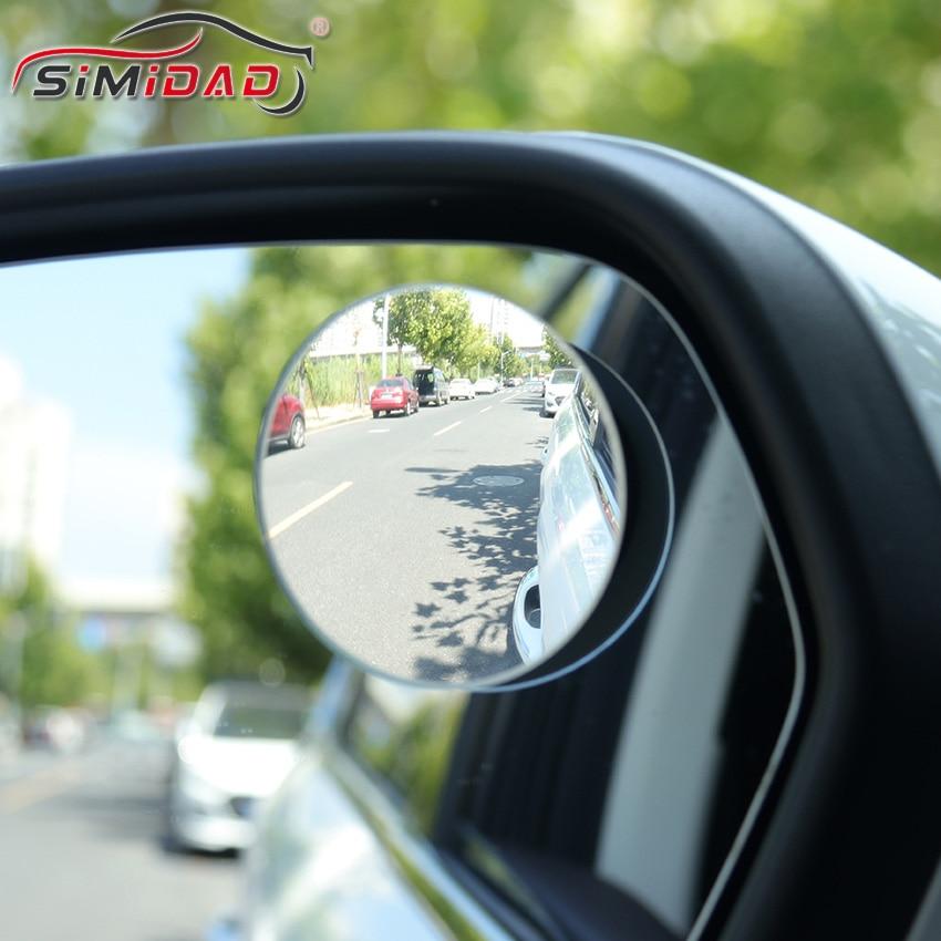 2 pces carro de 360 graus grande angular sem moldura espelho de ponto cego redondo espelho convexo lateral blindspot retrovisor espelho de estacionamento