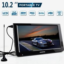 Outdoor 10.2 Inch 12V Portable Digital Televisi Analog Dvb-t/DVB-T2 TFT LED HD TV Mendukung TF Kartu USB audio Mobil Televisi(China)