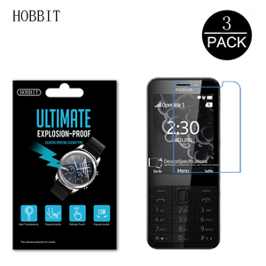Image 1 - 3Pcs 5H HD Explosion Proof PET Film For Nokia 230 Screen Protector Clear Scratch Resistant Anti Water Film Not Glass For Nokia