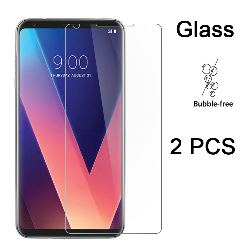 2PCS Protective Glass For LG X Power 2 X Screen HD Tempered Glass 9H Film Screen Protector For LG V50 V40 V30 V20 V10 Hard