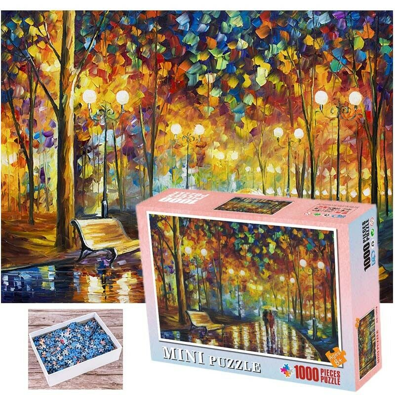 DIY 1000 PICS Jigsaw Puzzle walking in the rain for Kids And Adults brain game toy puzzle 1000 pieces kids educational toys