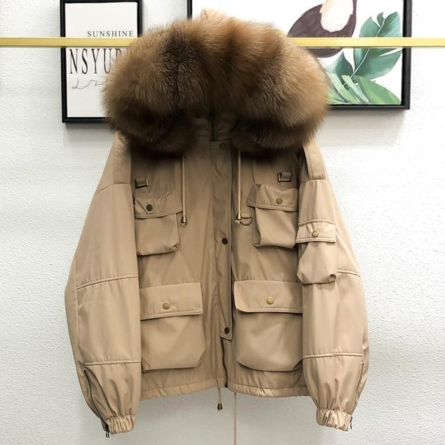 Γυναικείο casual κοντό μπουφάν με κουκούλα
